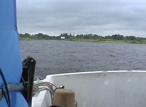 Boat on Lake Ladoga Footage
