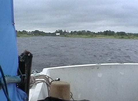 Boat on Lake Ladoga Stock Video Footage