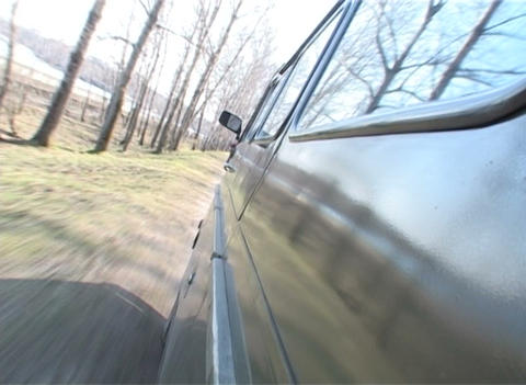 Journey on a country road Stock Video Footage