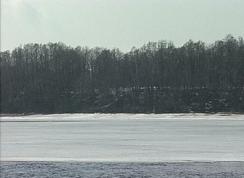 River in the winter Stock Video Footage