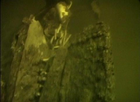Sunken airplane under the water Stock Video Footage