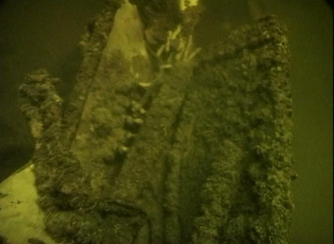 Sunken airplane under the water Stock Video Footage