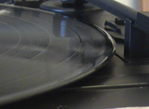 Vinyl record and sound pickup Stock Video Footage