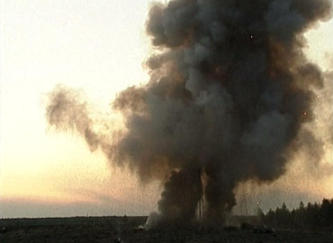 The explosion at the landfill Stock Video Footage