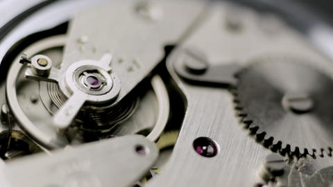 Close up watch mechanism Stock Video Footage