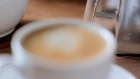 Espresso Rack Focus Stock Video Footage