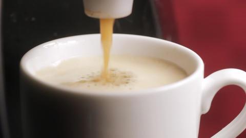 Espresso coffee machine Stock Video Footage