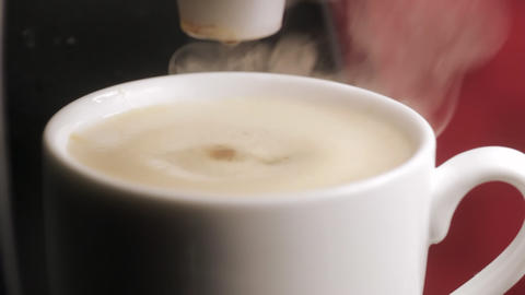 Espresso coffee machine Stock Video Footage