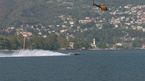 offshore helicopter 01 Stock Video Footage