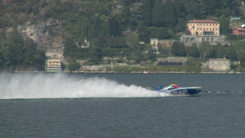 offshore race 01 Stock Video Footage