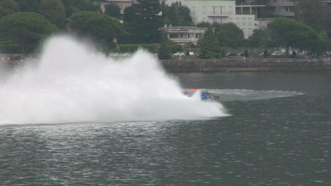 offshore race slow motion 02 Stock Video Footage