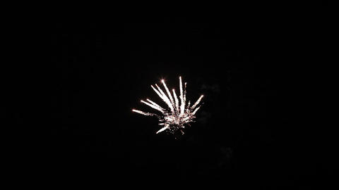 Colorful fireworks of various colors over night sky Stock Video Footage