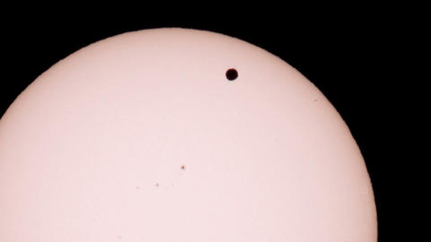 Passage of Venus across the disk of the Sun 06.06.2012, TimeLapse Footage
