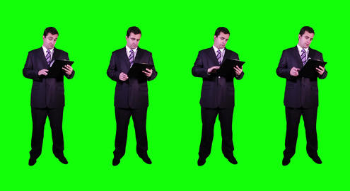 4 K Young Businessman Greenscreen 1 Footage