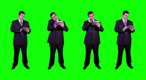 4 K Young Businessman Greenscreen 3 Footage