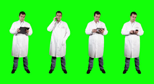 4 K Young Doctor Bad News Greenscreen 3 Stock Video Footage