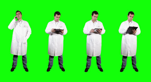 4 K Young Doctor Greenscreen 1 Stock Video Footage