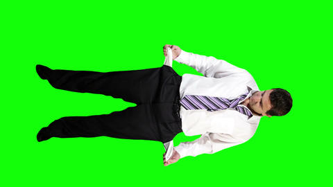 Young Businessman Bankrupt Full Body Greenscreen 43 Footage