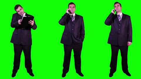 Young Businessman Bundle Greenscreen 2 Stock Video Footage