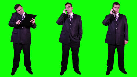 Young Businessman Bundle Greenscreen 2 Footage