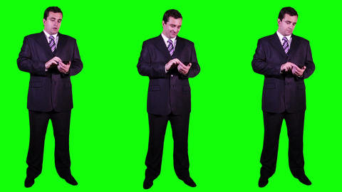 Young Businessman Bundle Greenscreen 4 Footage