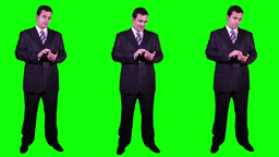 Young Businessman Bundle Greenscreen 4 Stock Video Footage