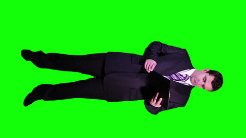 Young Businessman Checking Documents Full Body Greenscreen 65 Footage