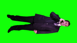 Young Businessman Phone Bad News Full Body Greenscreen 51 Footage