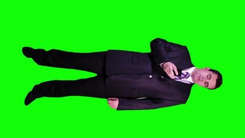 Young Businessman Phone Bad News Full Body Greenscreen 51 Stock Video Footage