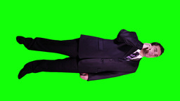 Young Businessman Phone Good News Full Body Greenscreen 52 Stock Video Footage