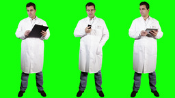 Young Doctor Bad News Bundle Greenscreen 3 Stock Video Footage