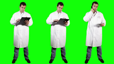 Young Doctor Bundle Greenscreen 2 Stock Video Footage