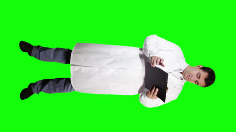 Young Doctor Scientist Full Body Checking Documents Bad... Stock Video Footage