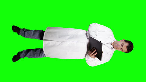 Young Doctor Scientist Full Body Making Notes GS 23 Stock Video Footage
