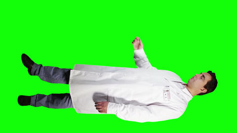 Young Doctor Scientist Full Body Presentation GS 26 Stock Video Footage