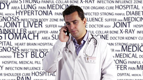 Young Doctor Smartphone Medical Background 4 Footage