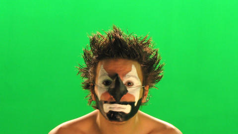 clown on the green screen Footage