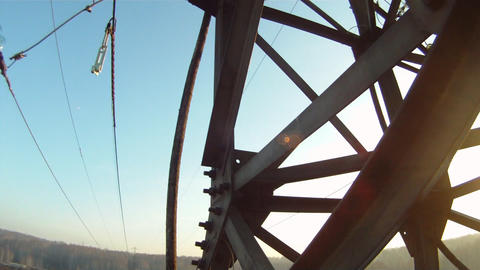 High voltage works Stock Video Footage