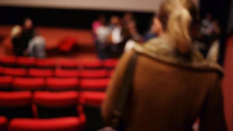 Premiere Cinema hall 2 Stock Video Footage