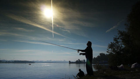 Spin fishing sequence 4 Footage