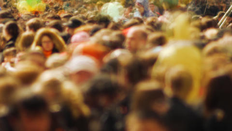 Timelapse crowd Stock Video Footage