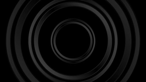 Dark black abstract circles video animation Animation