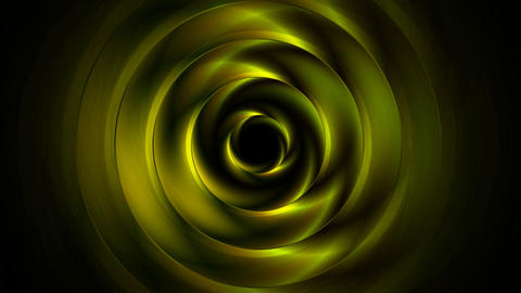 Green yellow shiny rings video animation Animation