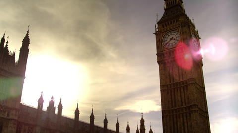 Stationary of Big Ben in afternoon Footage