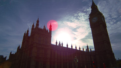 Big Ben sunny afternoon view Footage