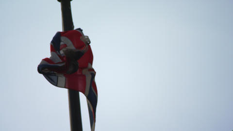 British flag in the wind Footage