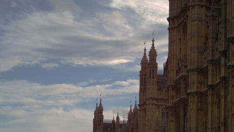 Westminster Palace from the side Footage