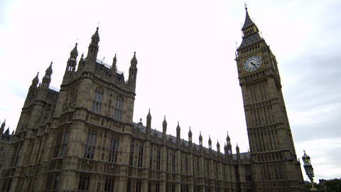 Westminster and Big Ben stationary Footage