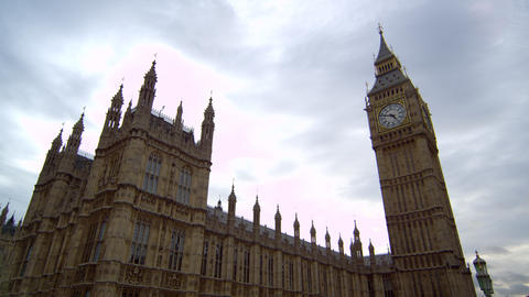 Westminster Palace and Big Ben stationary Footage