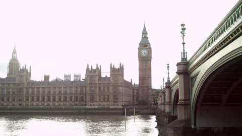 Thames, Westminster and bridge Footage